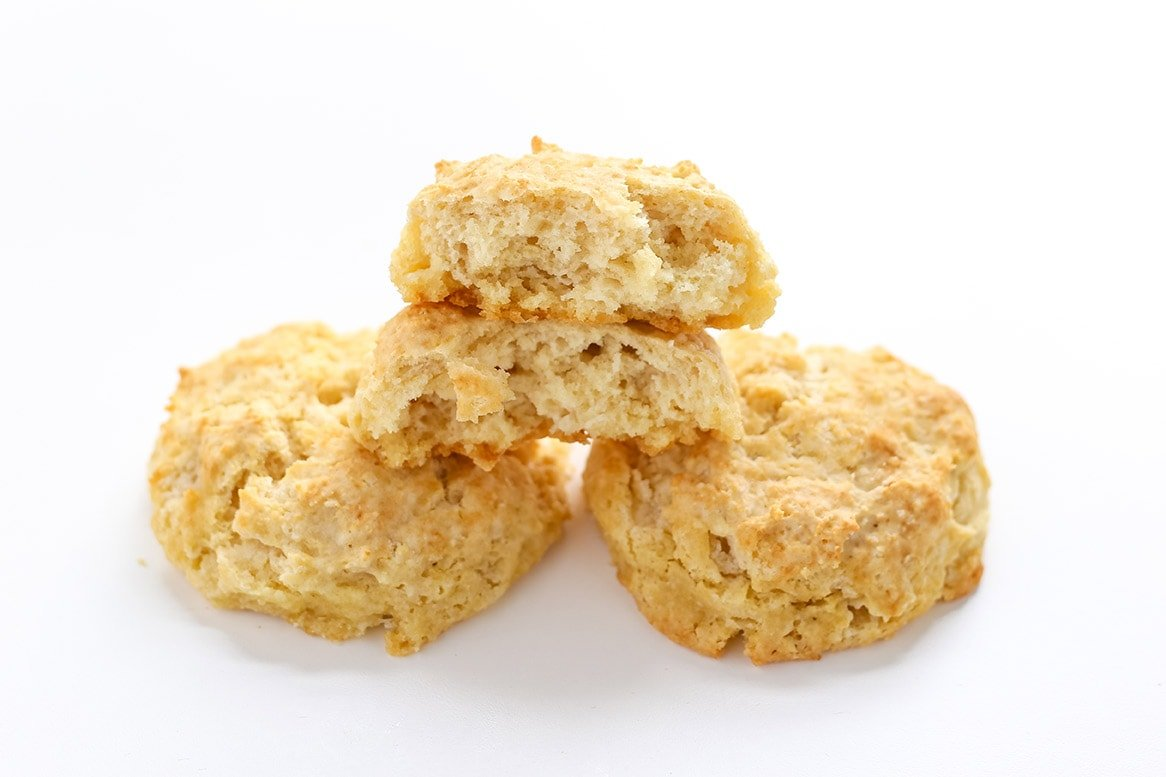 Dairy free buttermilk substitution in biscuits