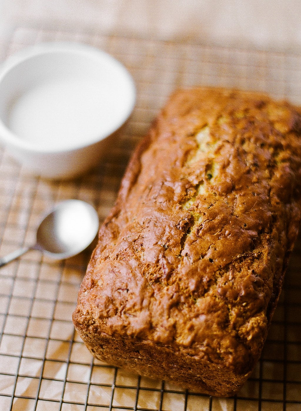 Lemon Yogurt Zucchini Bread is the perfect summer treat! Ultra moist and loaded with bright lemon flavors, everyone will be asking for this recipe.