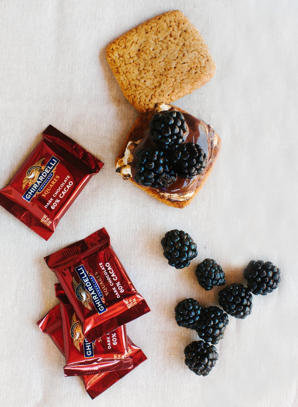 S'mores with fresh fruit like blackberries are the perfect summer dessert!