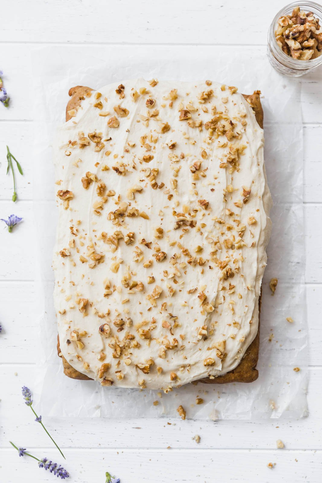 banana walnut cake bar recipe
