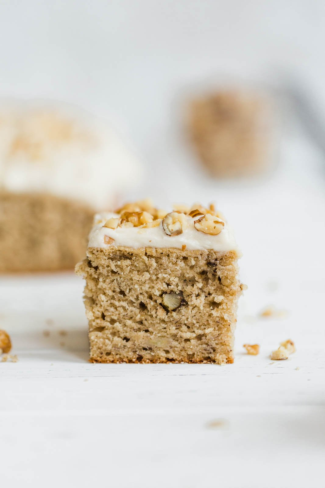 Banana Walnut Sheet cake