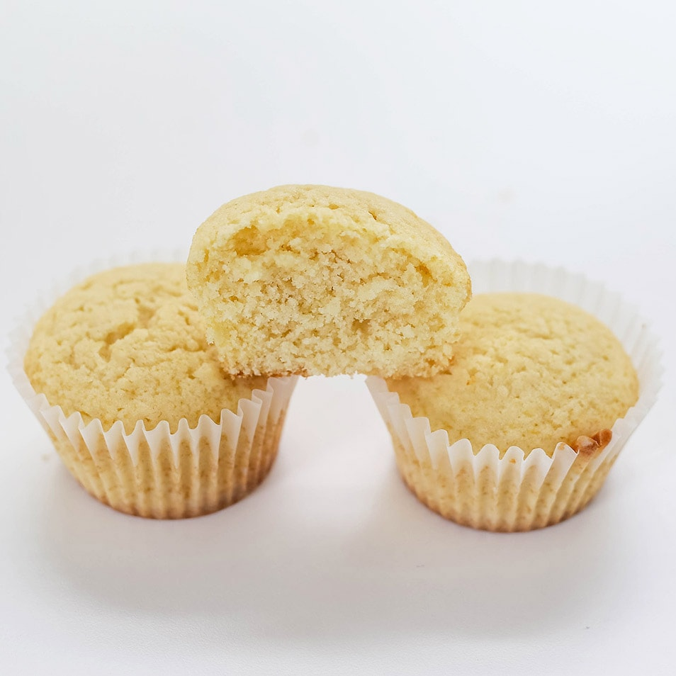 Cupcakes made with all-purpose flour vs cake flour