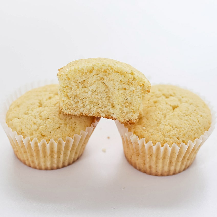 Cupcakes made with DIY cake flour substitute