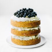 Vanilla Poppy Seed Cake with Whipped Ganache