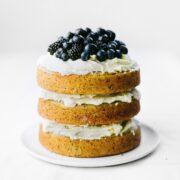 Vanilla Poppy Seed Cake with Whipped Ganache