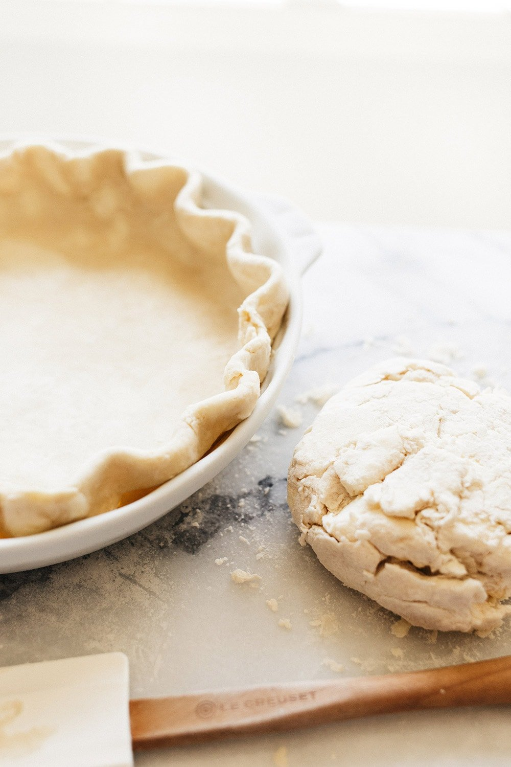 How to roll out and shape pie crust