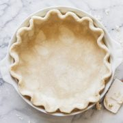 All butter flaky pie crust made from scratch