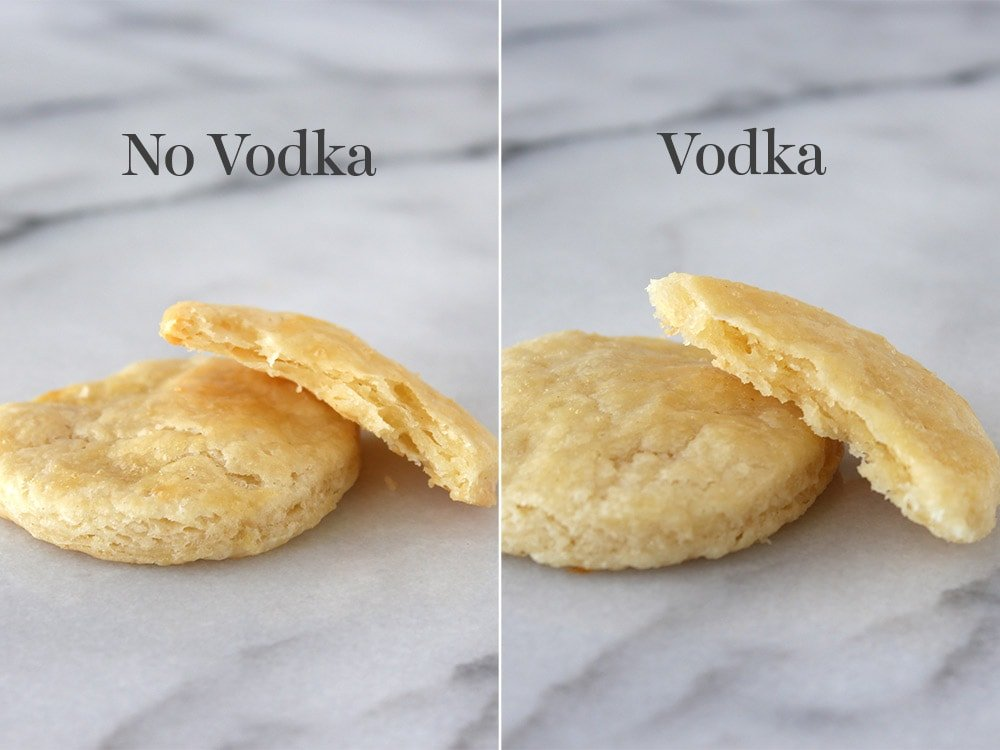 Testing out vodka in pie crust