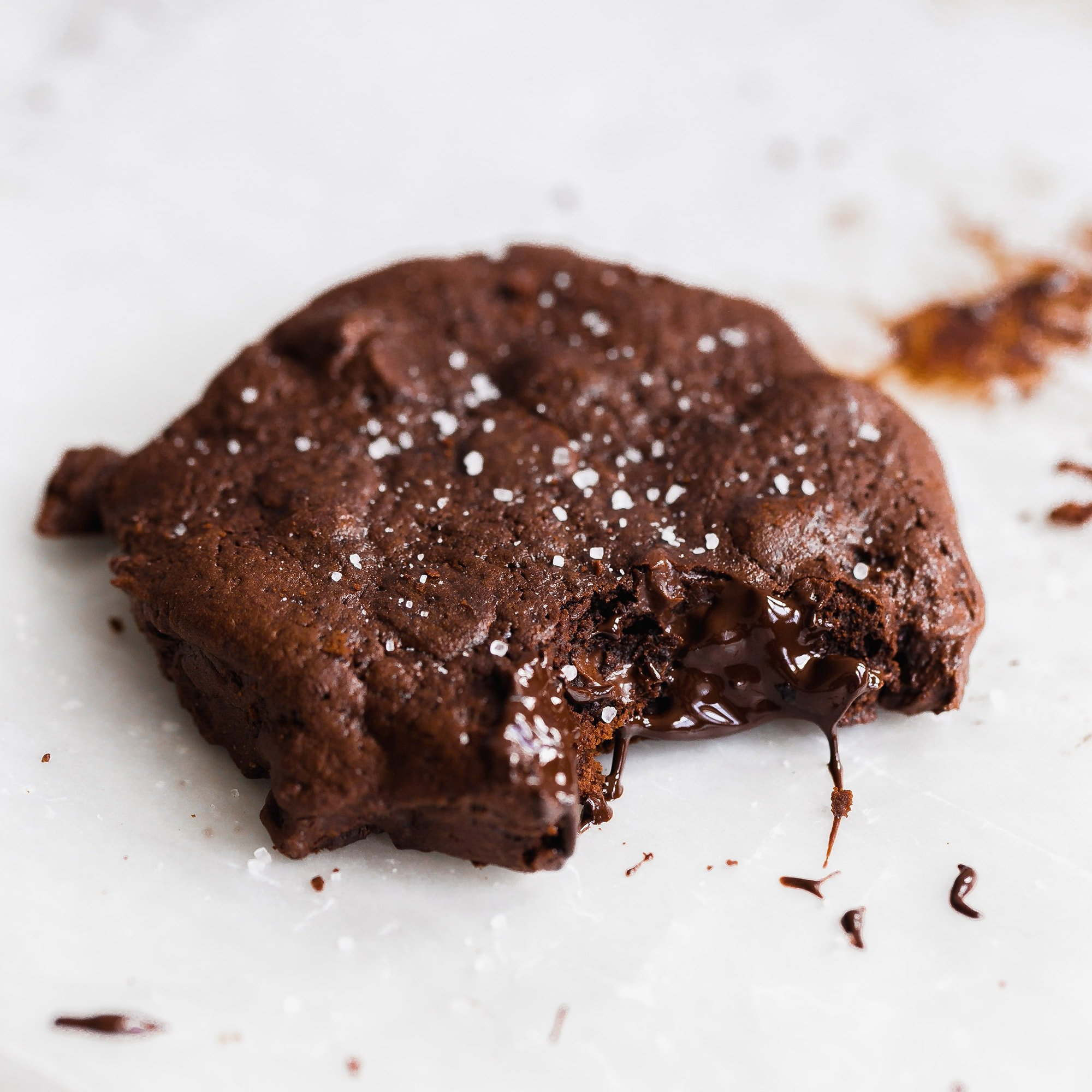 Soft Batch Double Chocolate Cookies are sinfully thick, rich, and gooey and loaded with an almost obscene amount of chocolate!