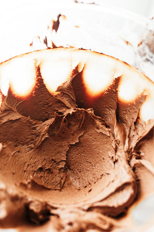 Dark Chocolate Frosting - not too sweet!