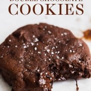 Soft Batch Double Chocolate Cookies