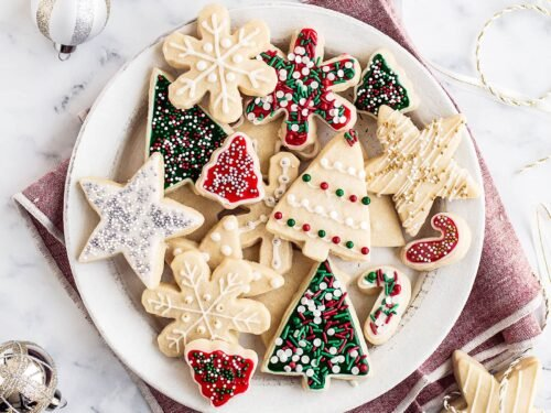 Christmas Cutout Cookies.Easy Cut Out Sugar Cookies