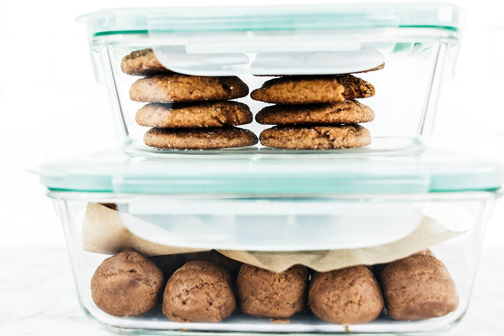 Storing cookies and cookie dough to keep fresh!