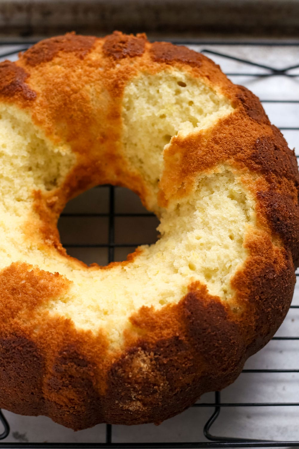 Bundt cake that got stuck to the pan and ruined