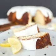 Beautiful and tender Lemon Bundt Cake is full of bright and fresh natural lemon flavor, it's the perfect show stopping cake for any occasion!