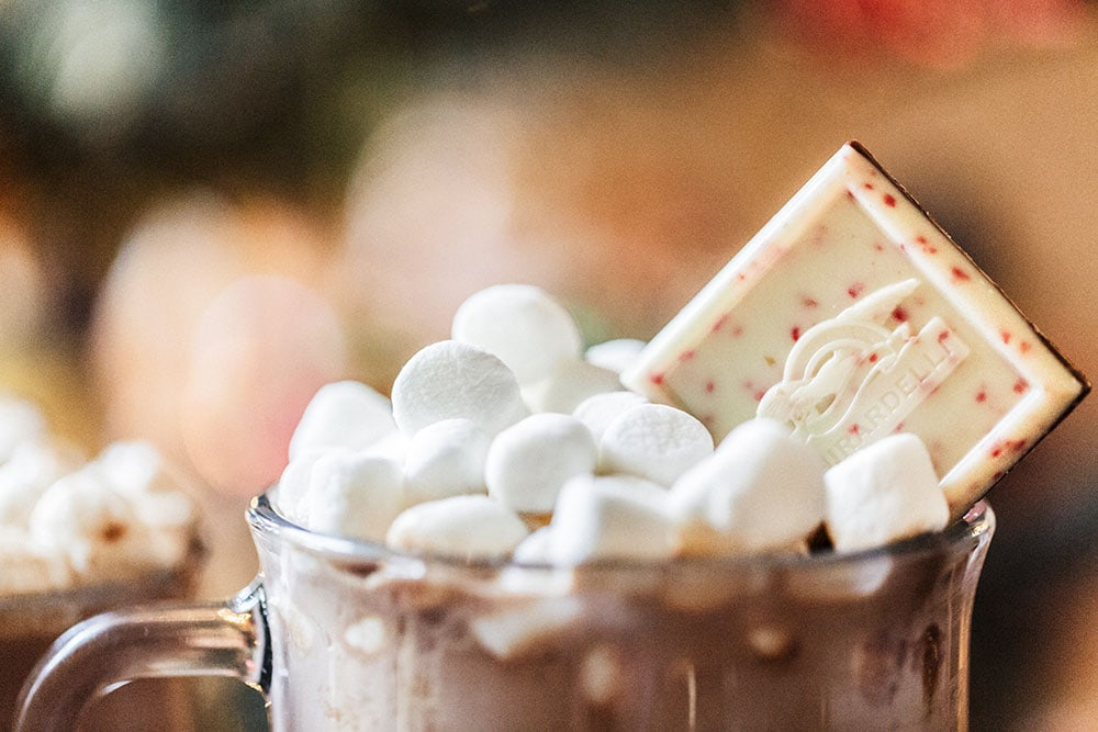 My recipe for homemade Peppermint Hot Cocoa is super easy yet flavorful and can be made into adorable DIY edible gifts. Printable recipe cards and gift tags included!