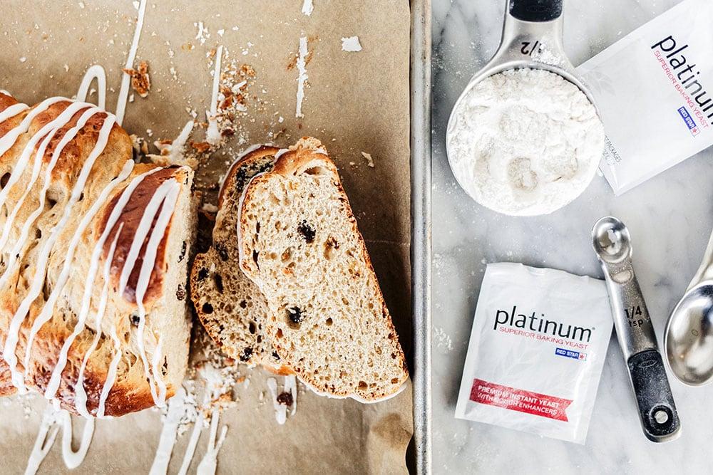 Rum Raising Bread made with Platinum Yeast