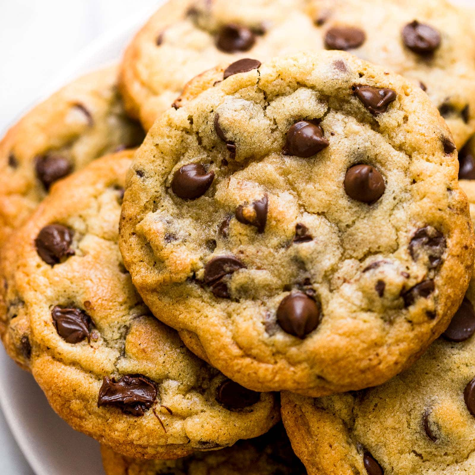 Ultra thick bakery style chocolate chip cookie recipe