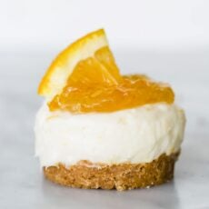 Mini Orange Cheesecakes + Girls' Night In
