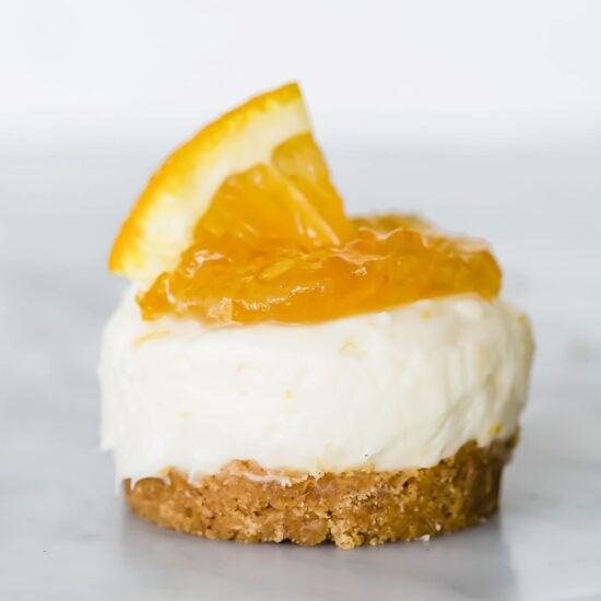 Mini Orange Cheesecakes