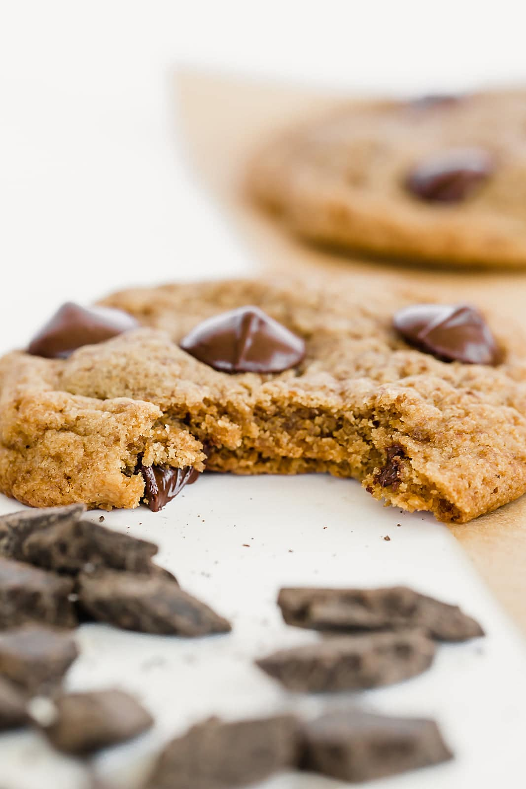 Dairy free chocolate chip cookies made without granulated sugar!