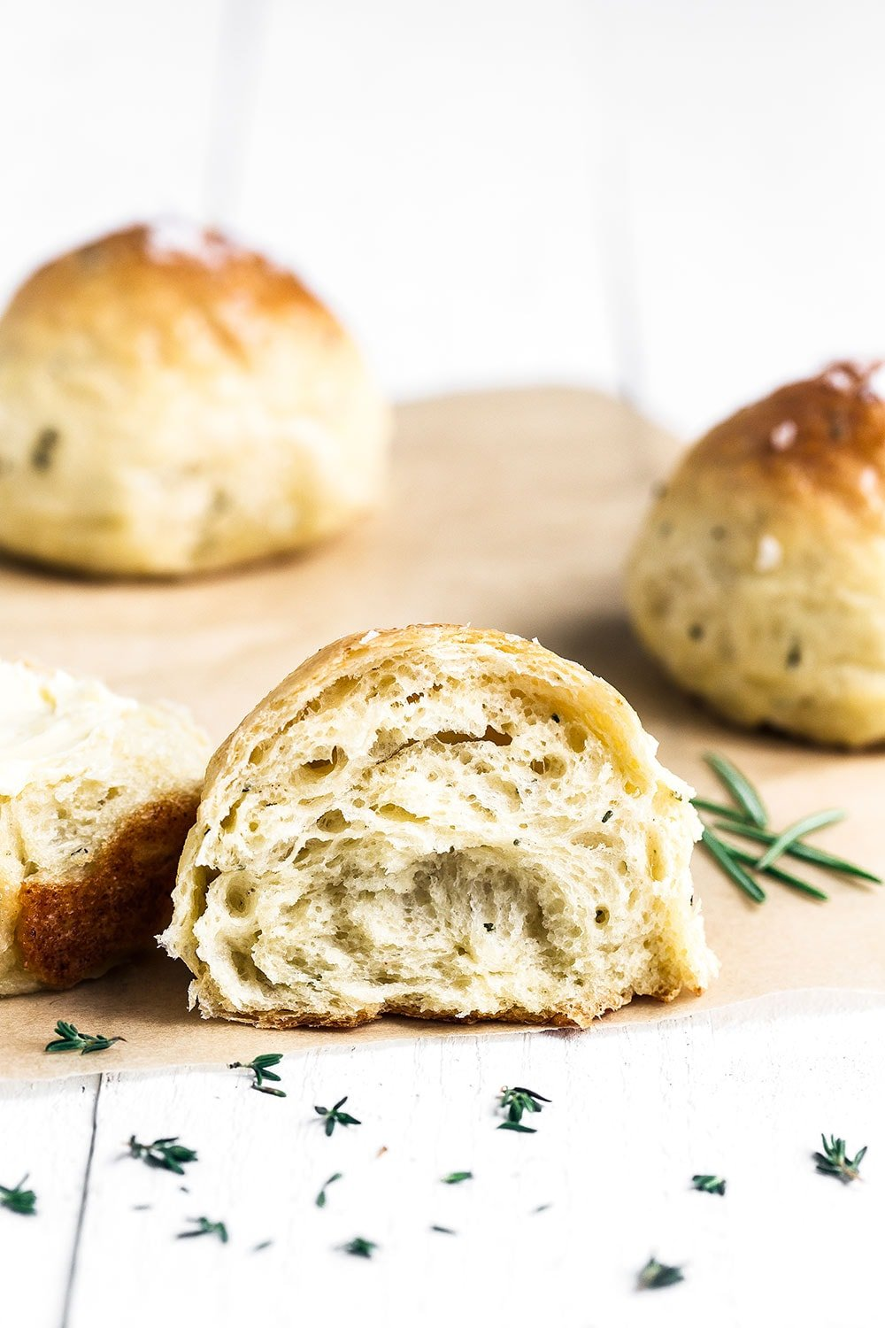 Super soft Ricotta Herb Dinner Rolls are a family favorite!