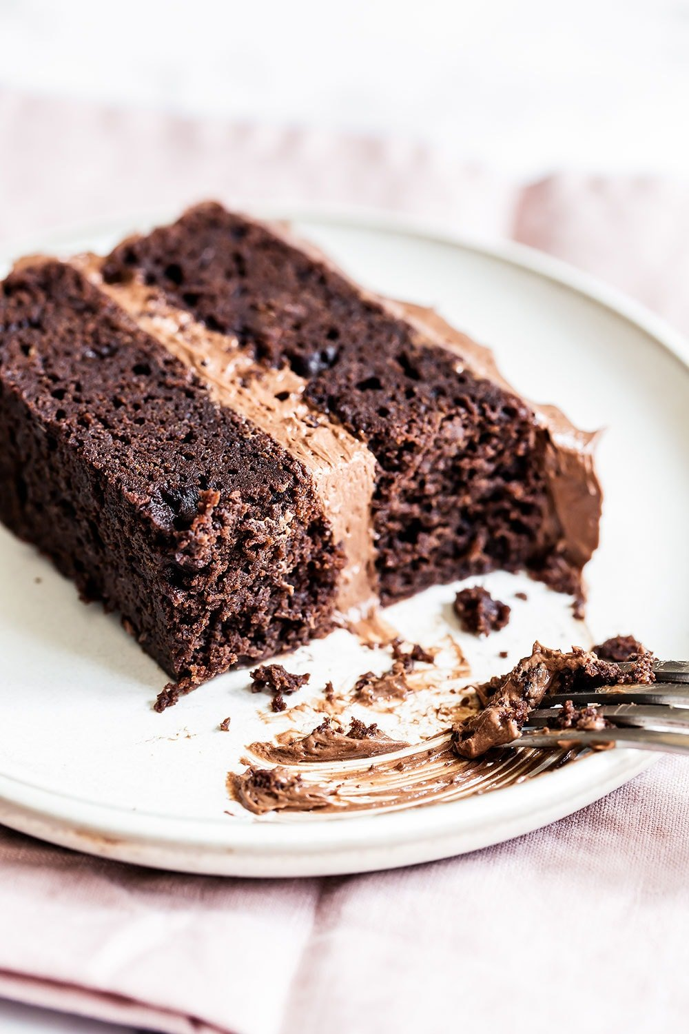 This Best Chocolate Cake recipe makes for the most flavorful, moist, and tender chocolate cake you've ever tasted! Everyone LOVES it and you don't even need a mixer to make the batter.