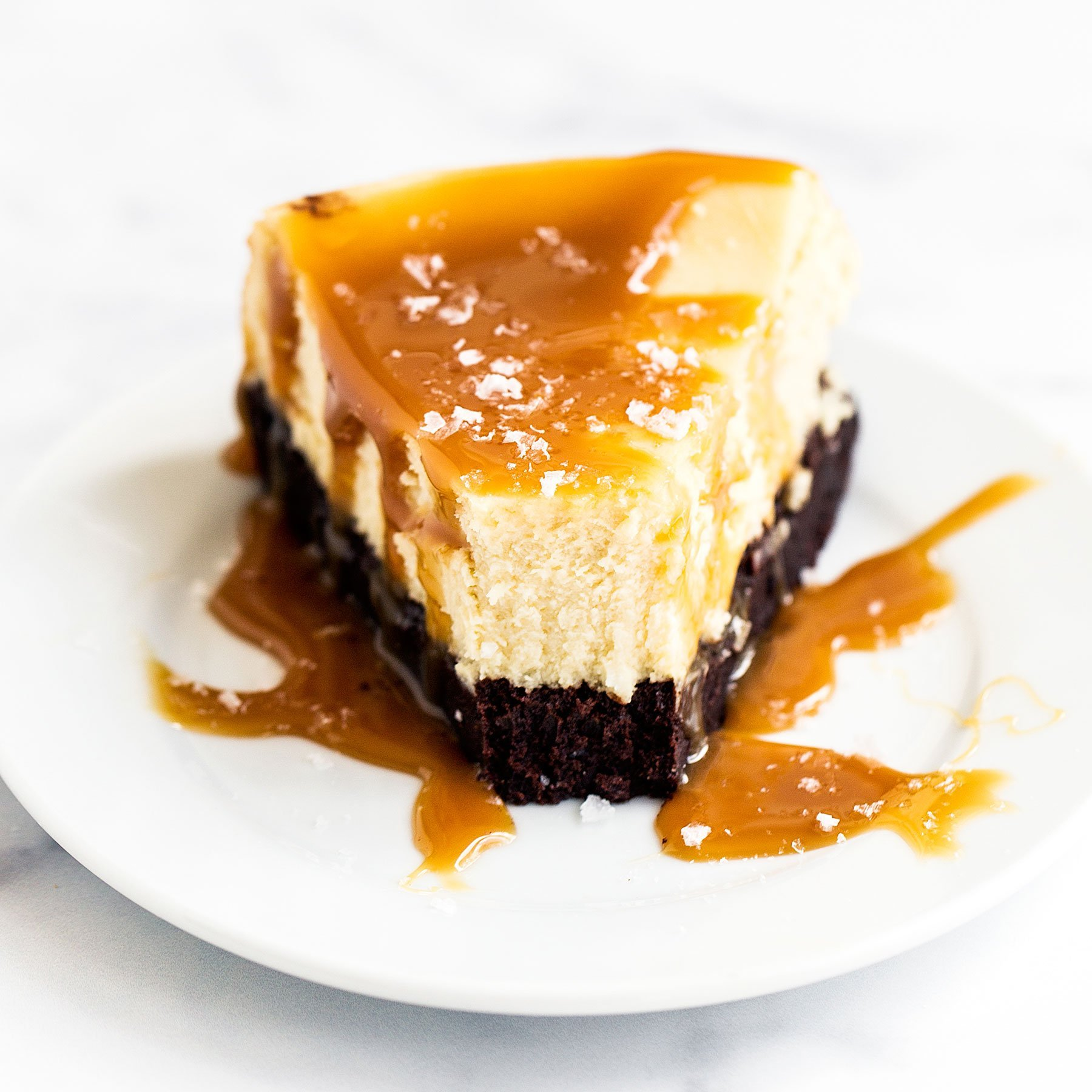Caramel Brownie Cheesecake Handle The Heat