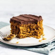 Easy Pumpkin Cake with Whipped Ganache