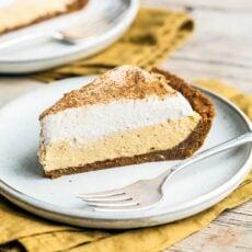 No Bake Pumpkin Mousse Pie