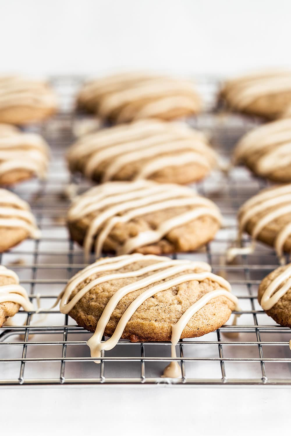 Quick & easy soft batch Chai sugar cookies with espresso coffee glaze