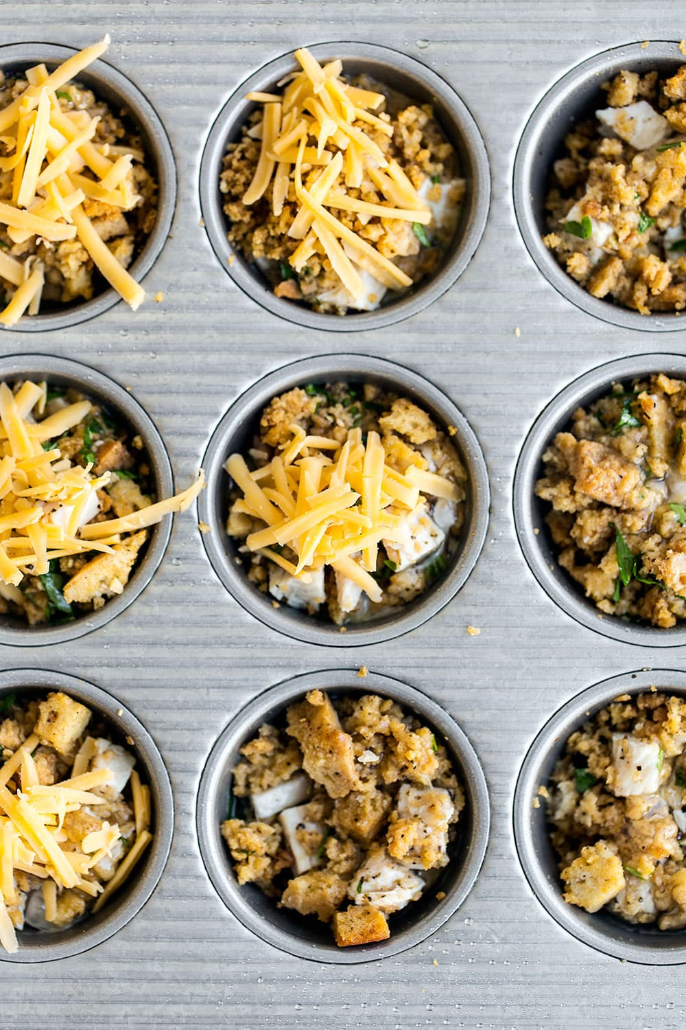 Thanksgiving Leftover Stuffing Muffins are made in minutes with leftover stuffing and turkey for a tasty breakfast or snack that you can dip in cranberry sauce or gravy!