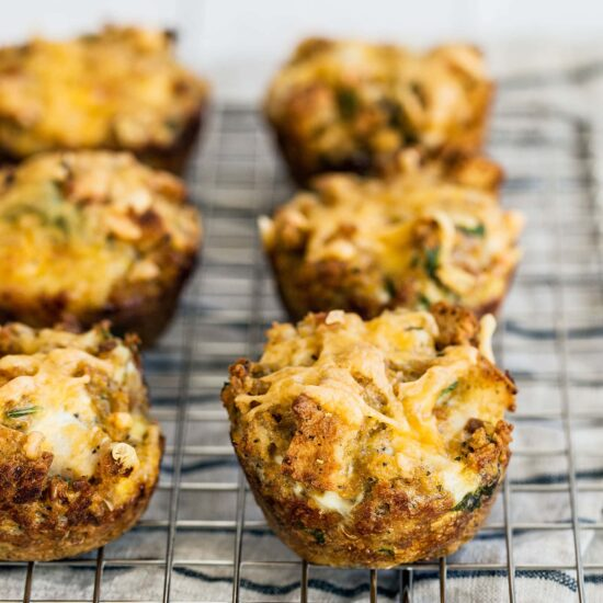 Leftover Stuffing Muffins