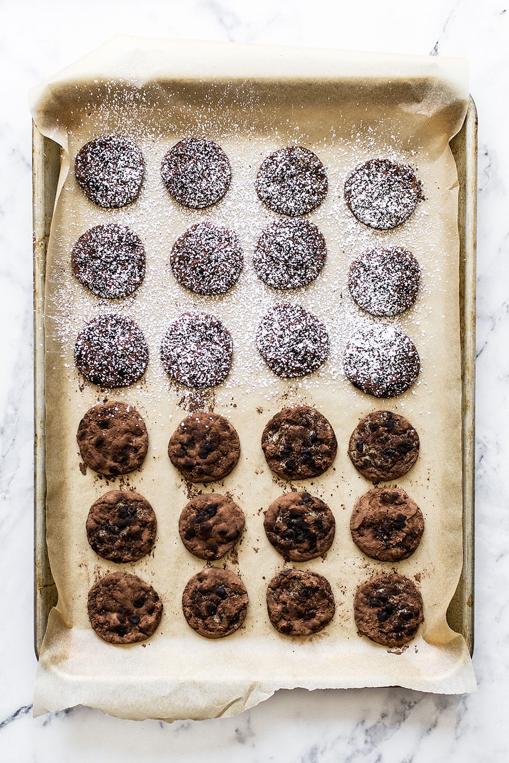 Chocolate Coffee Cookies with cocoa powder