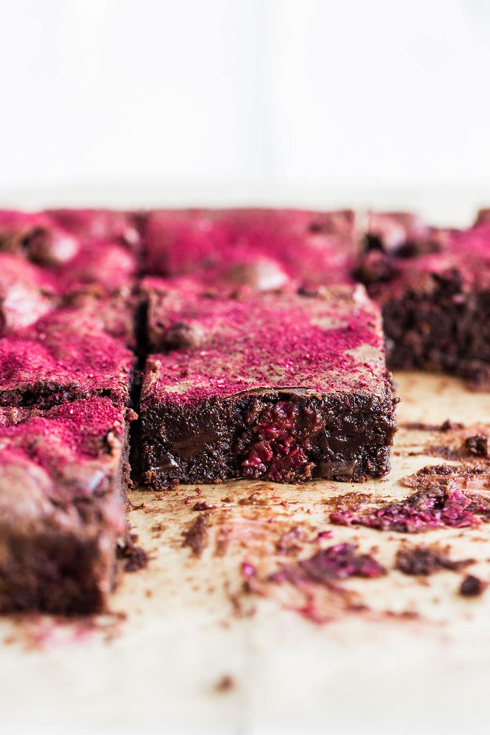 Raspberry Brownie Recipe is so pretty for Valentine's Day!