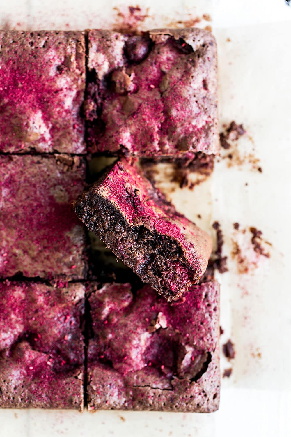Chocolate raspberry brownies are so moist and fudgy - my family LOVED these!