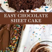 EASY Chocolate Sheet Cake