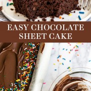 EASY Chocolate Sheet Cake