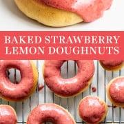 Baked Strawberry Lemon Doughnuts