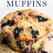 The BEST Brown Butter Blueberry Muffins