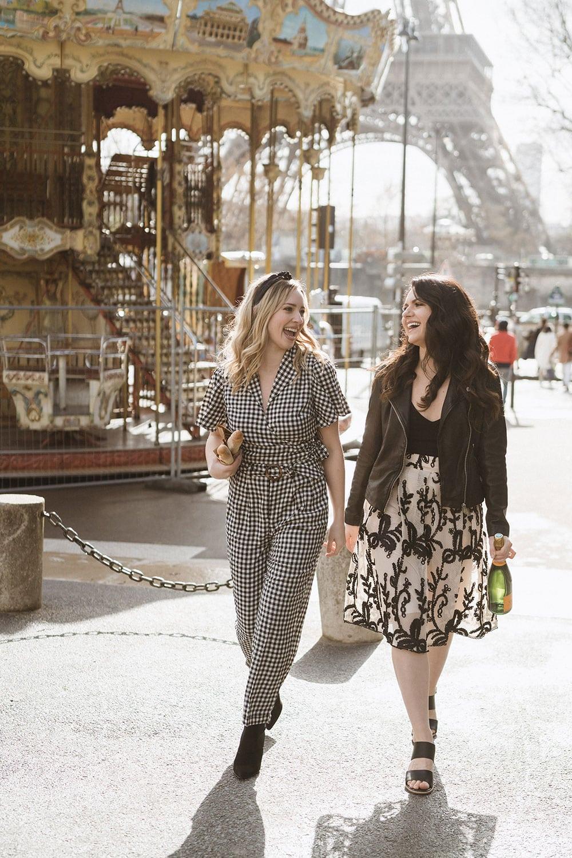 Walking by a carousel in Paris