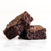 Chewy dark chocolate brownies