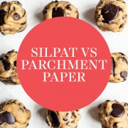 Testing the differences between baking with Silpat vs. Parchment paper – which is better for baking cookies or other desserts? Which is easier, cheaper, and provides better results? The answer might surprise you! #silpatvsparchmentpaper #handletheheat #bakingscience