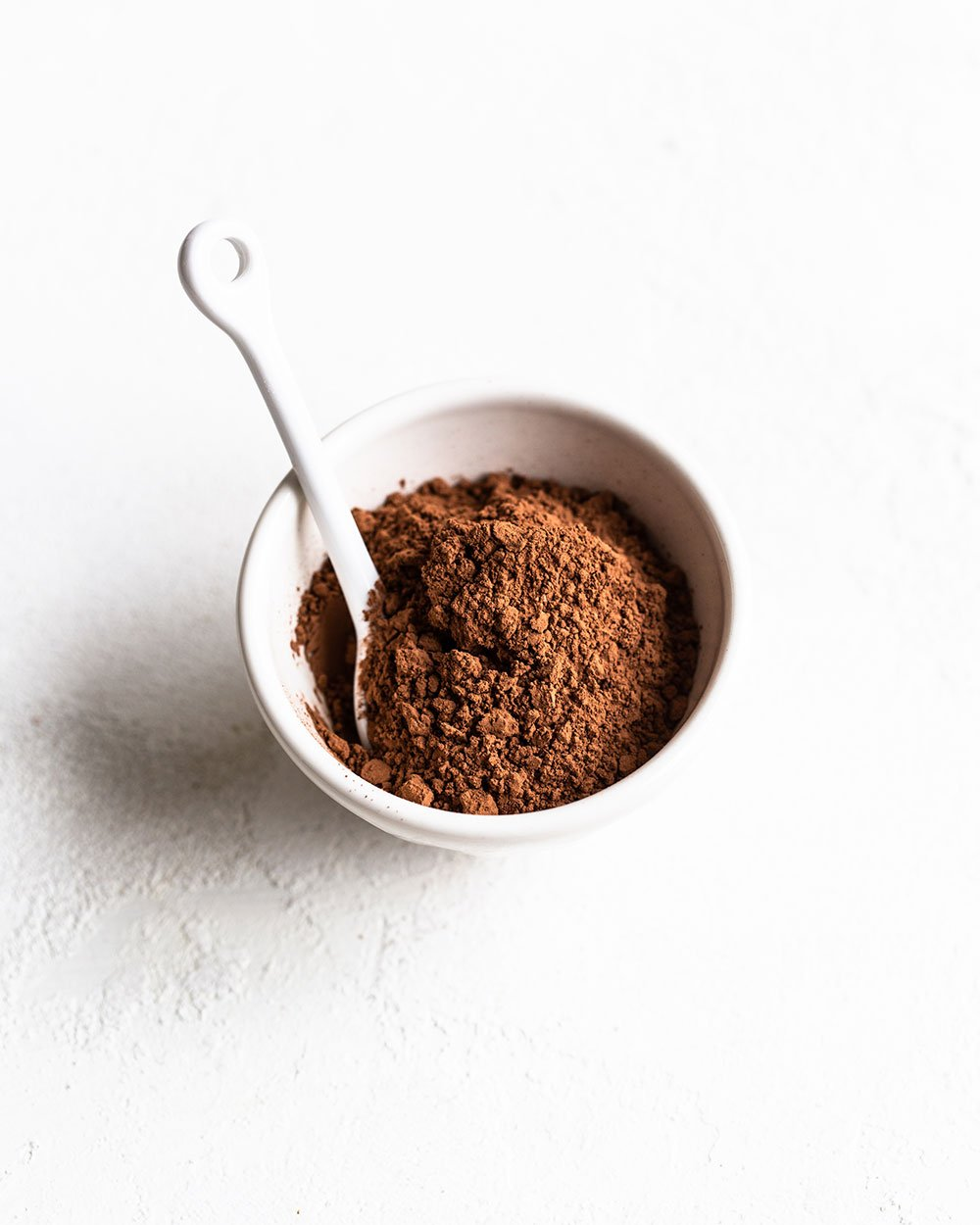 High fat Dutch process cocoa powder in a bowl