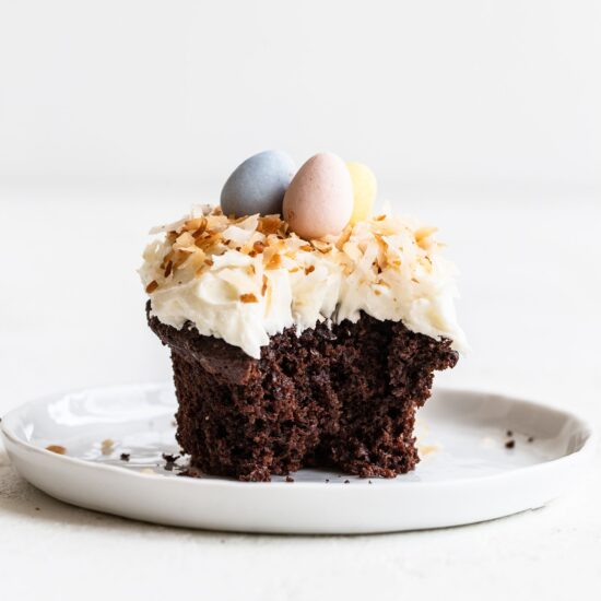 Chocolate Coconut Cupcakes for Easter