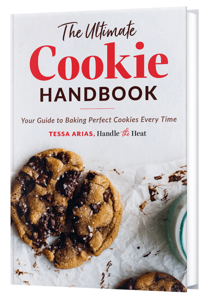 The Ultimate Cookie Handbook mockup cover