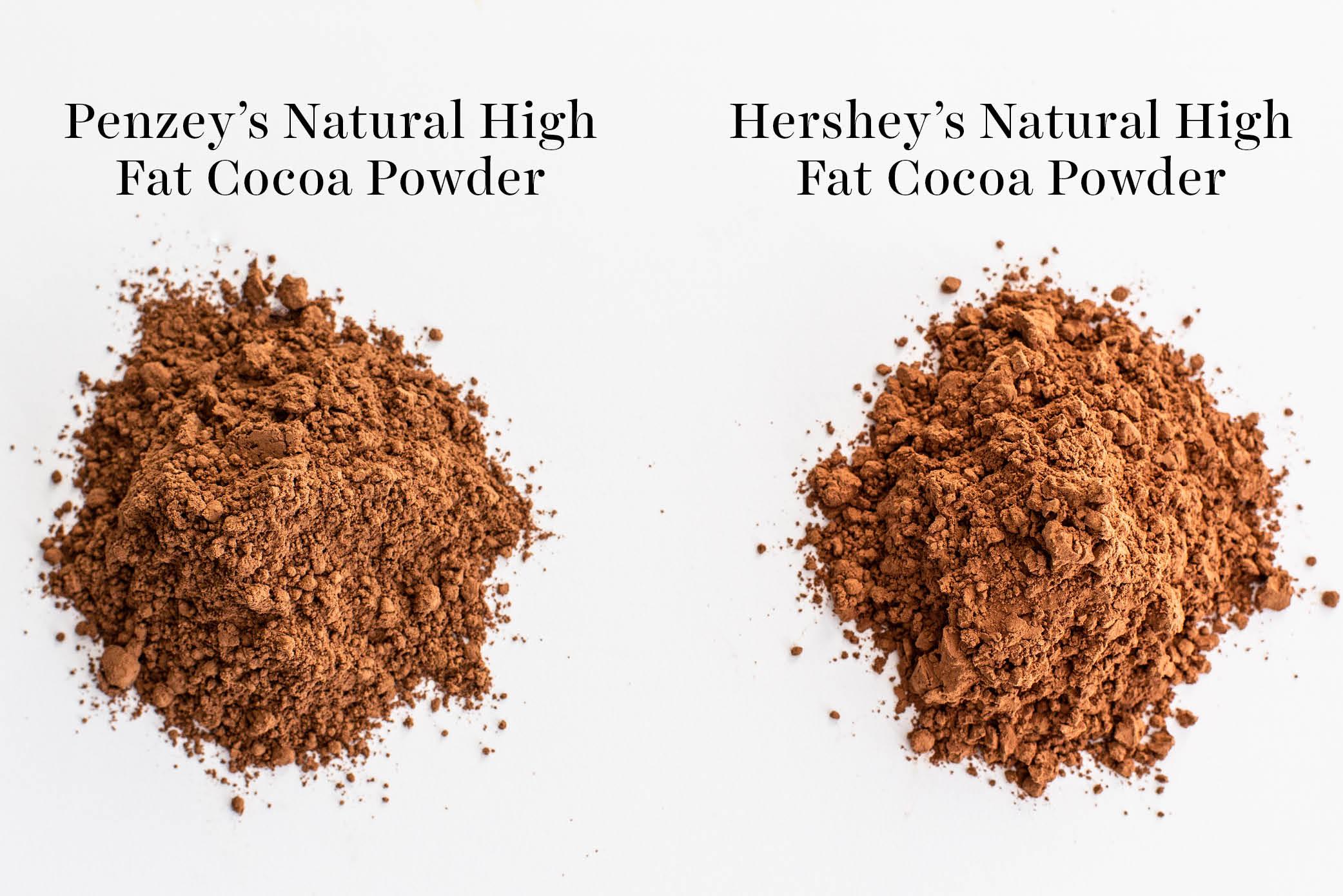 comparison of Penzey's vs Hershey's cocoa powder