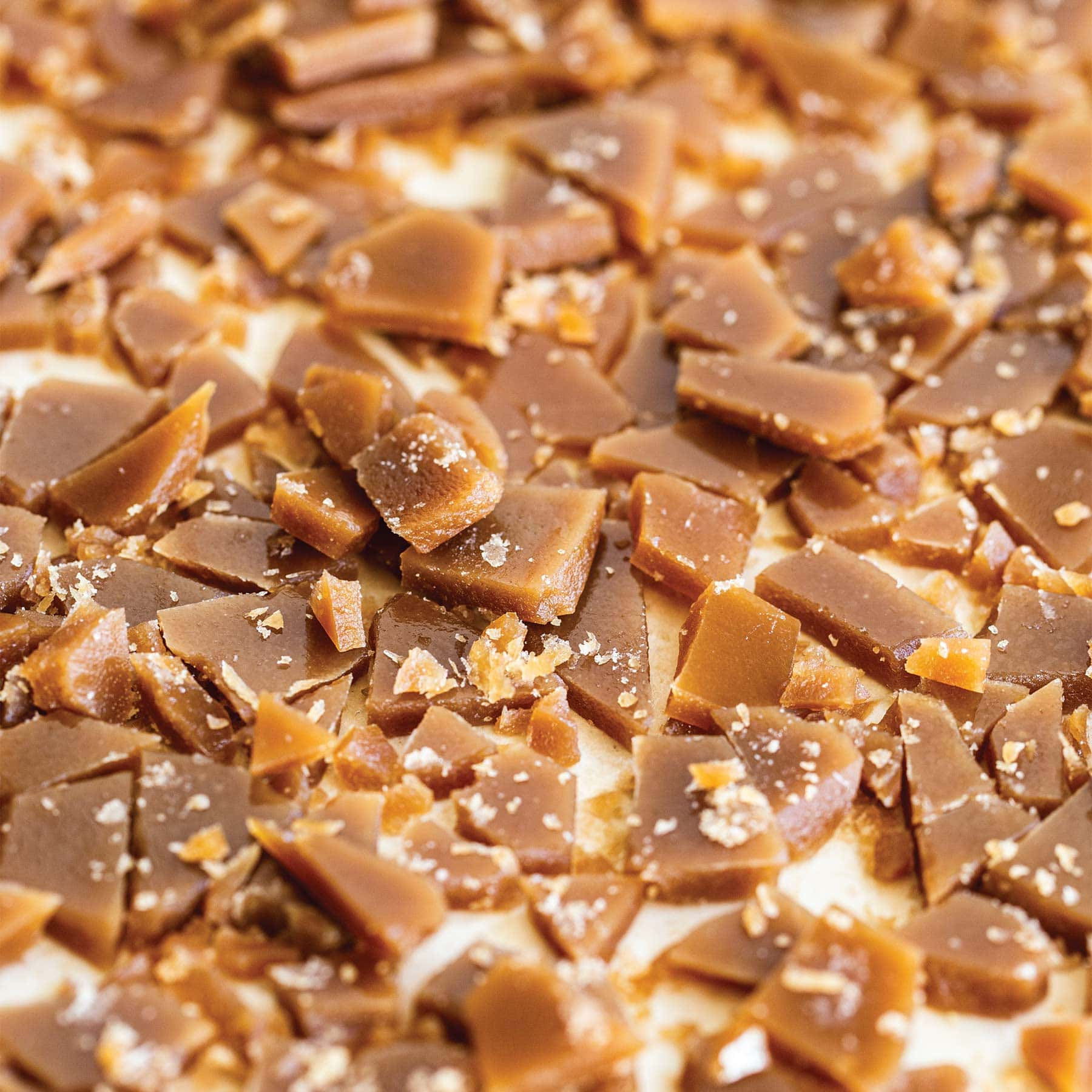 chopped up pieces of DIY toffee bits