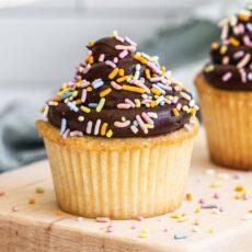 Ultra Moist Yellow Cupcakes