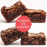 fudgy vs chewy brownies